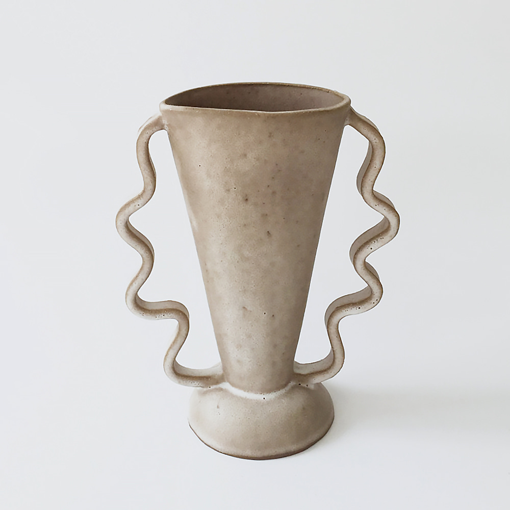 [MORGAN PECK]Stretch Vase_Frosted Flax