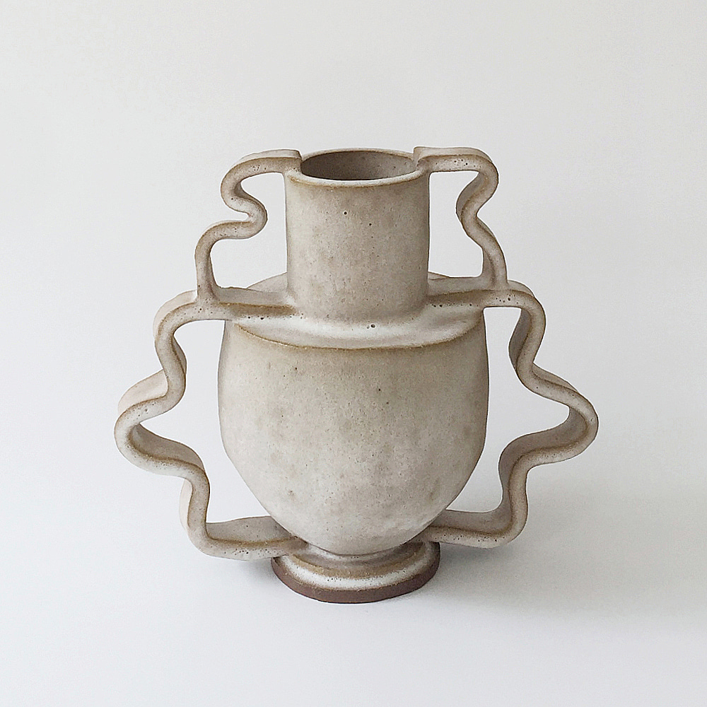 [MORGAN PECK]Double Stretch Vase_Frosted Flax
